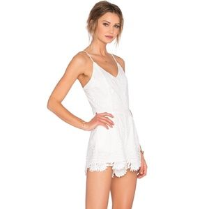 Lovers & Friends NWT White Lace Songbird Romper S